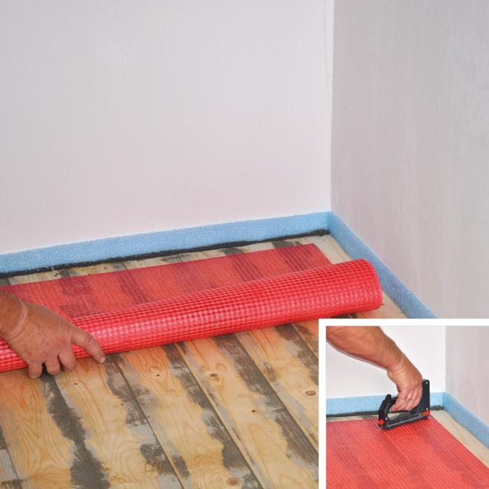 Tegelen houten vloer - Fliesen auf holzbalkendecke ...